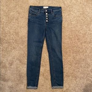 Free People Button Front Denim